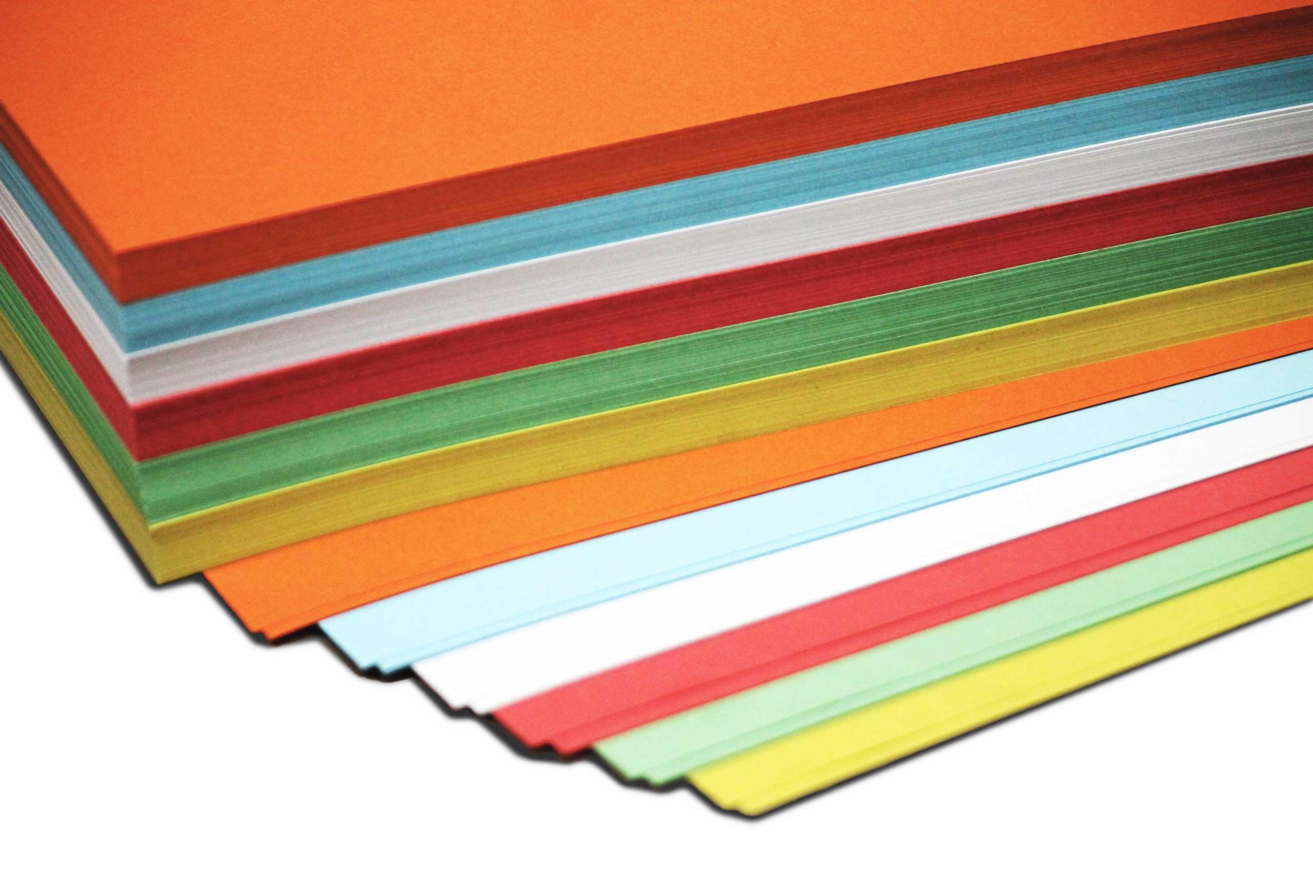 Bastelpapier - 130g - DIN A 3 - 100 Bogen - 6-farbig sortiert
