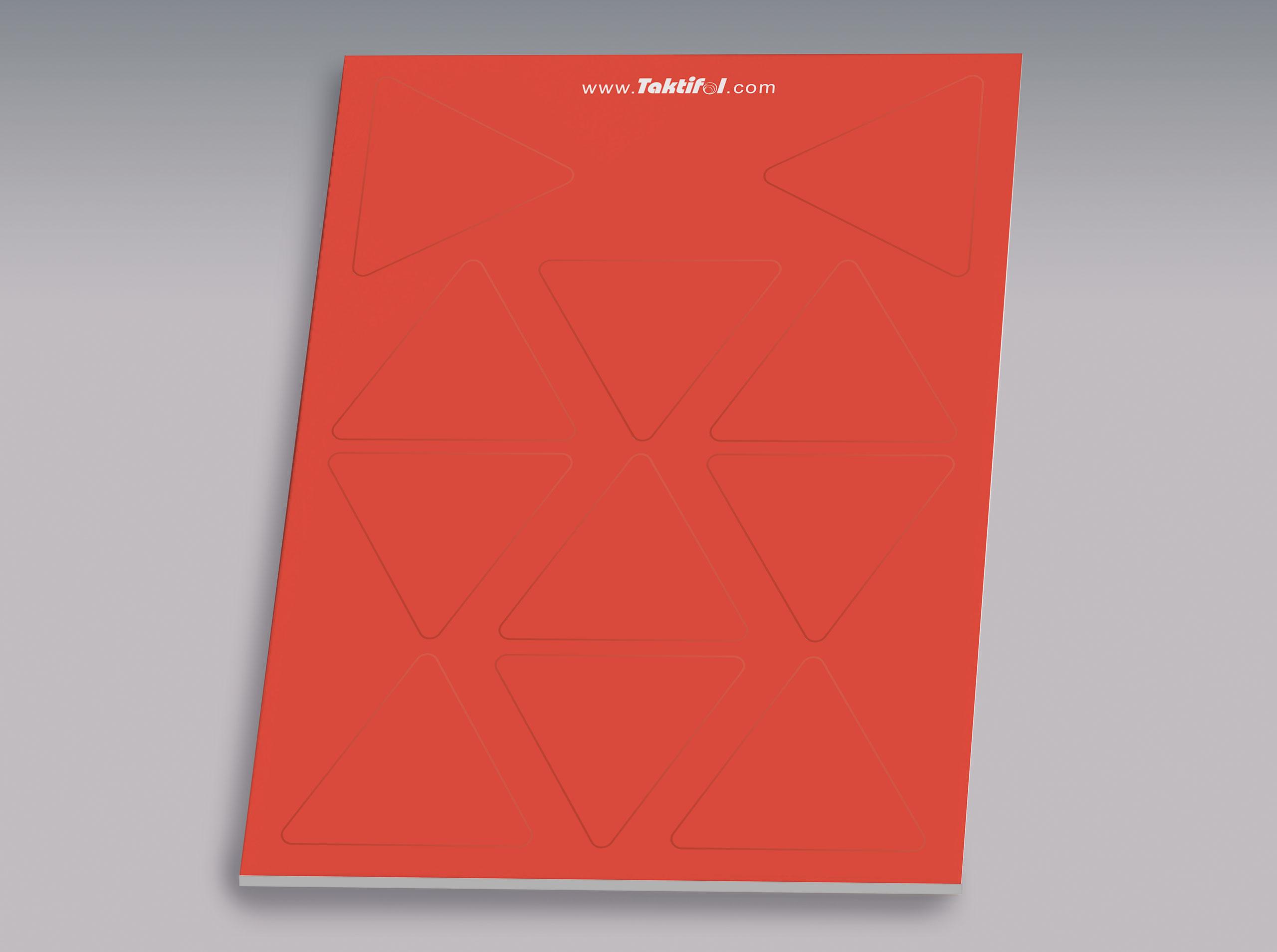 Taktifol Spielersymbole, Dreieck rot VE 11