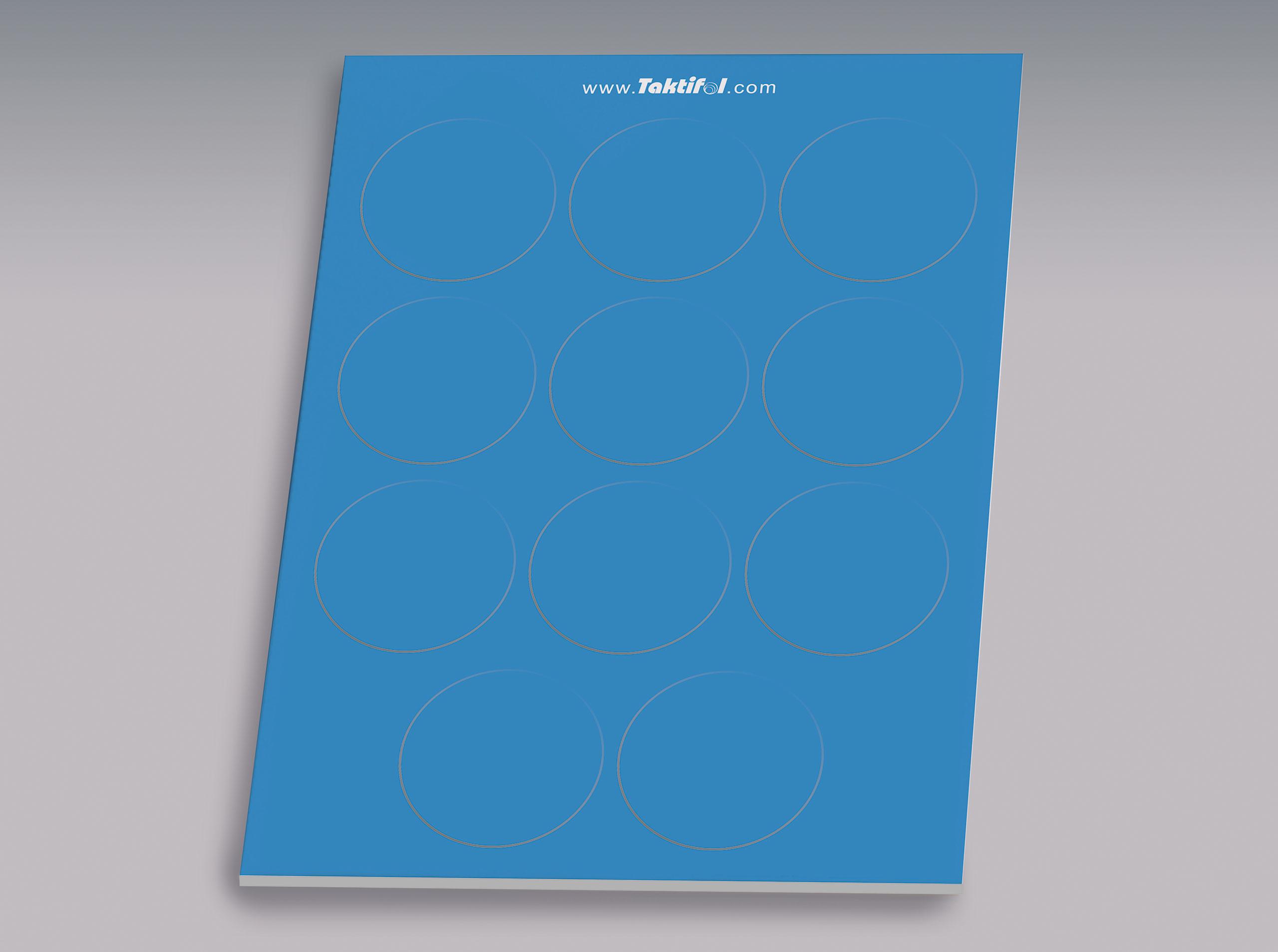 Taktifol Spielersymbole, Kreis blau VE 11