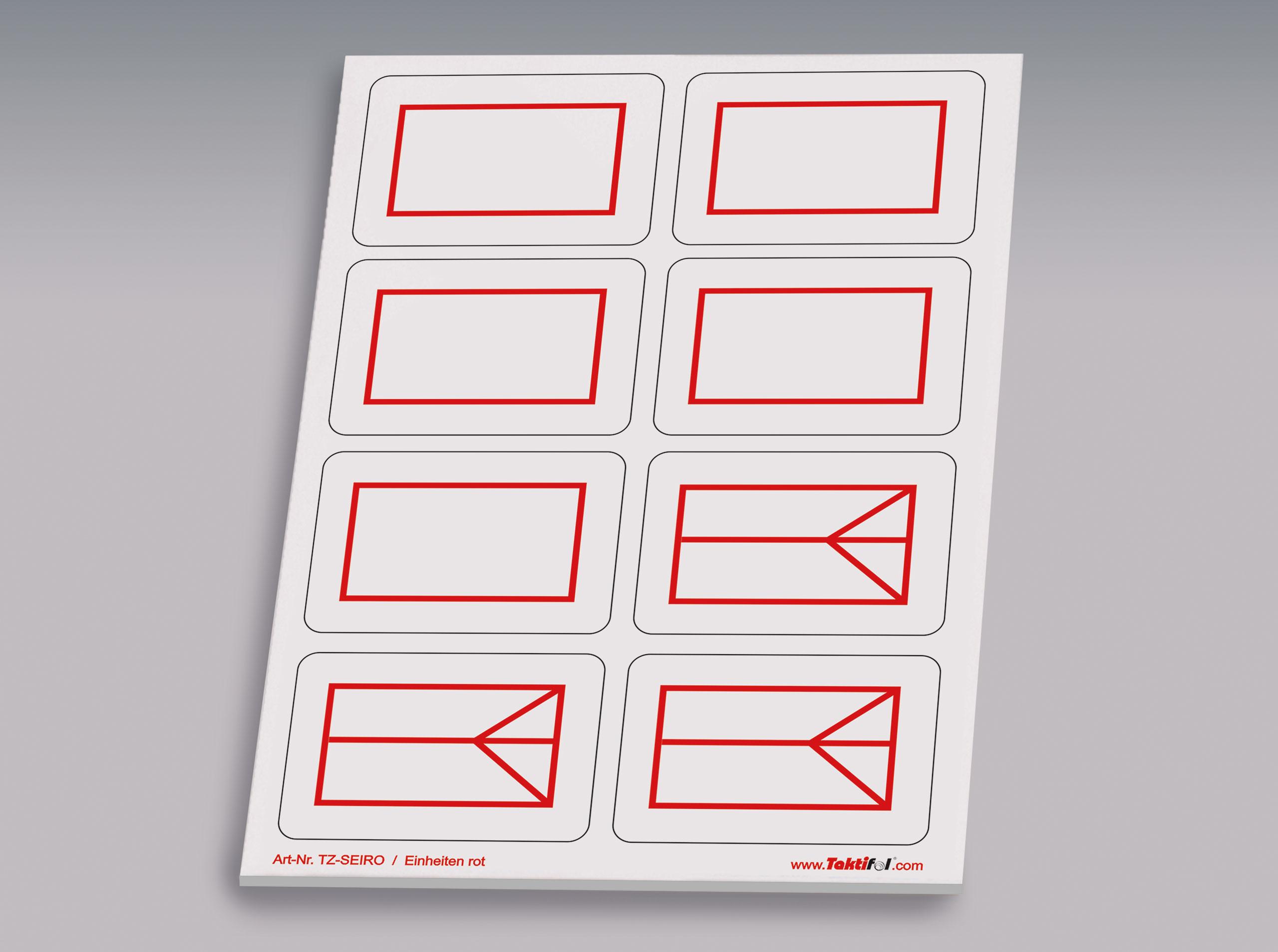 Taktische Zeichen Einheiten rot