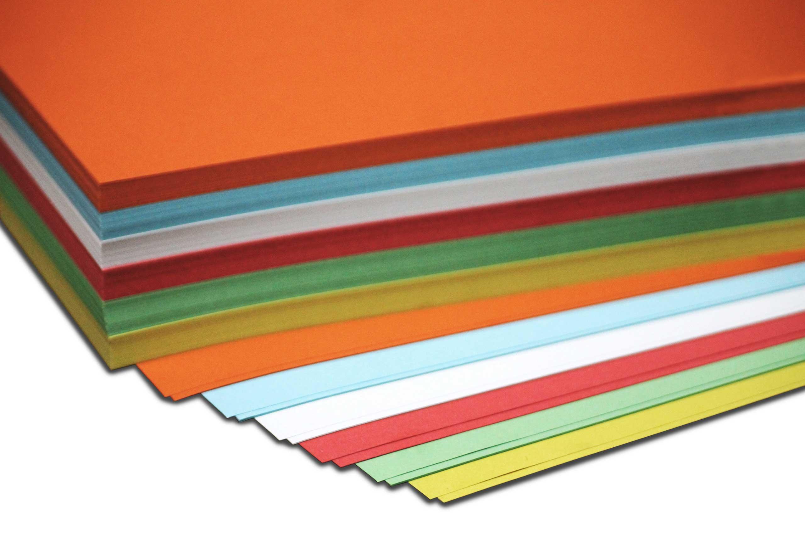 Bastelpapier - 130g - DIN A 4 - 200 Bogen - 6-farbig sortiert