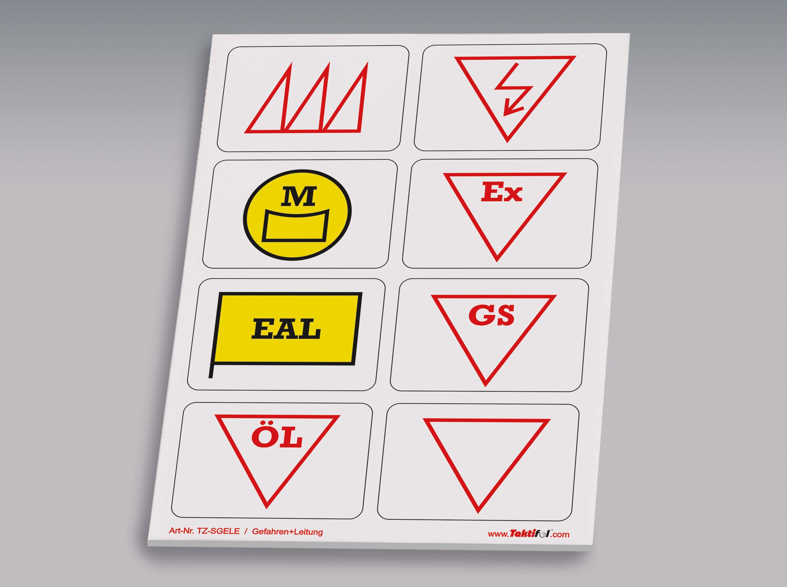 Taktische Zeichen Gefahren-Leitung